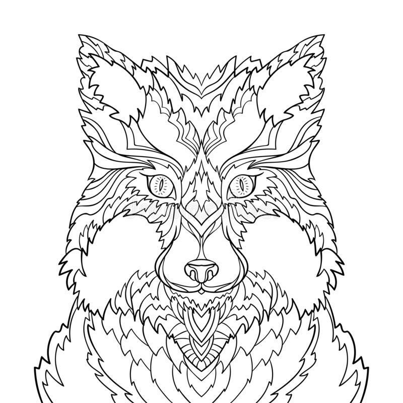 Tranh tô màu chân dung con cáo