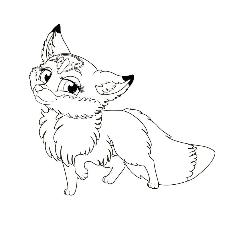 Tranh tô màu con cáo cực đẹp