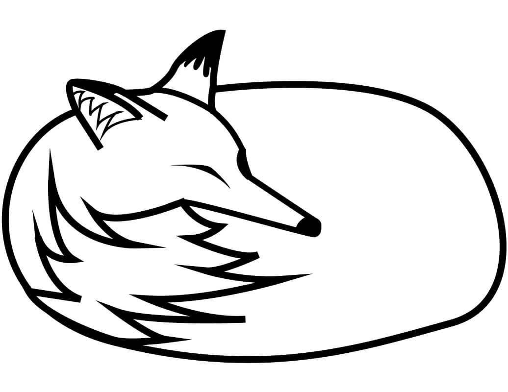 Tranh tô màu con cáo đơn giản