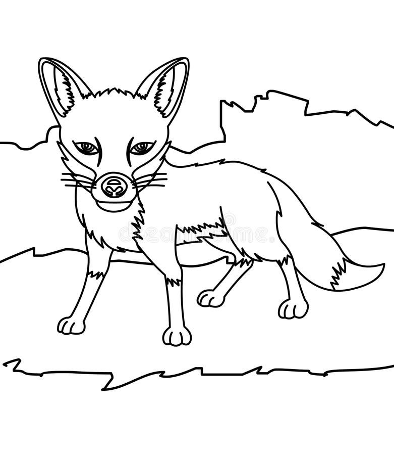 Tranh tô màu con cáo hoang