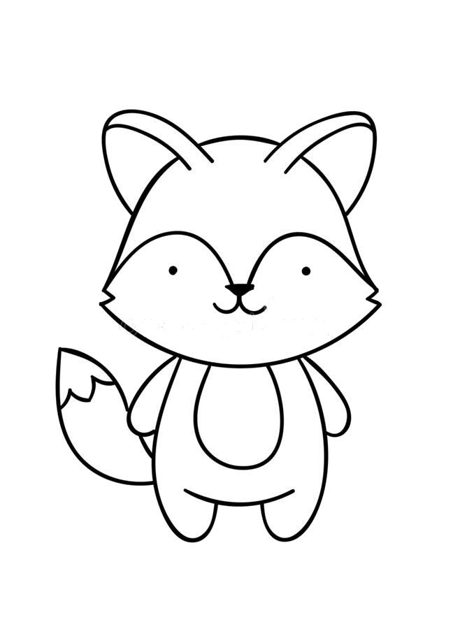 Tranh tô màu con cáo hoạt hình
