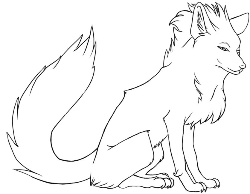 Tranh tô màu con cáo lạnh lùng