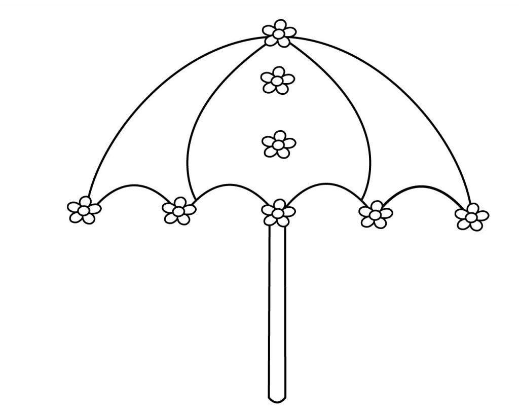 Hình tô màu cái ô đẹp