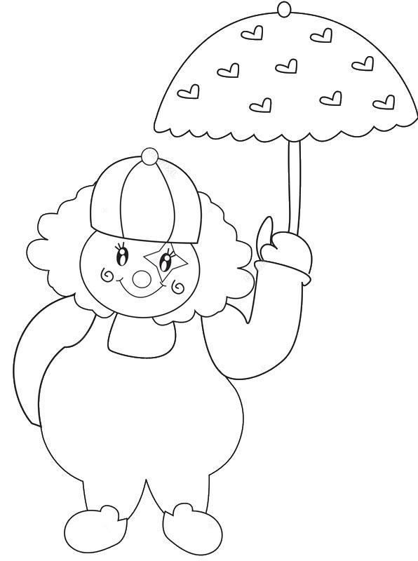 Hình tô màu chiếc ô dễ thương