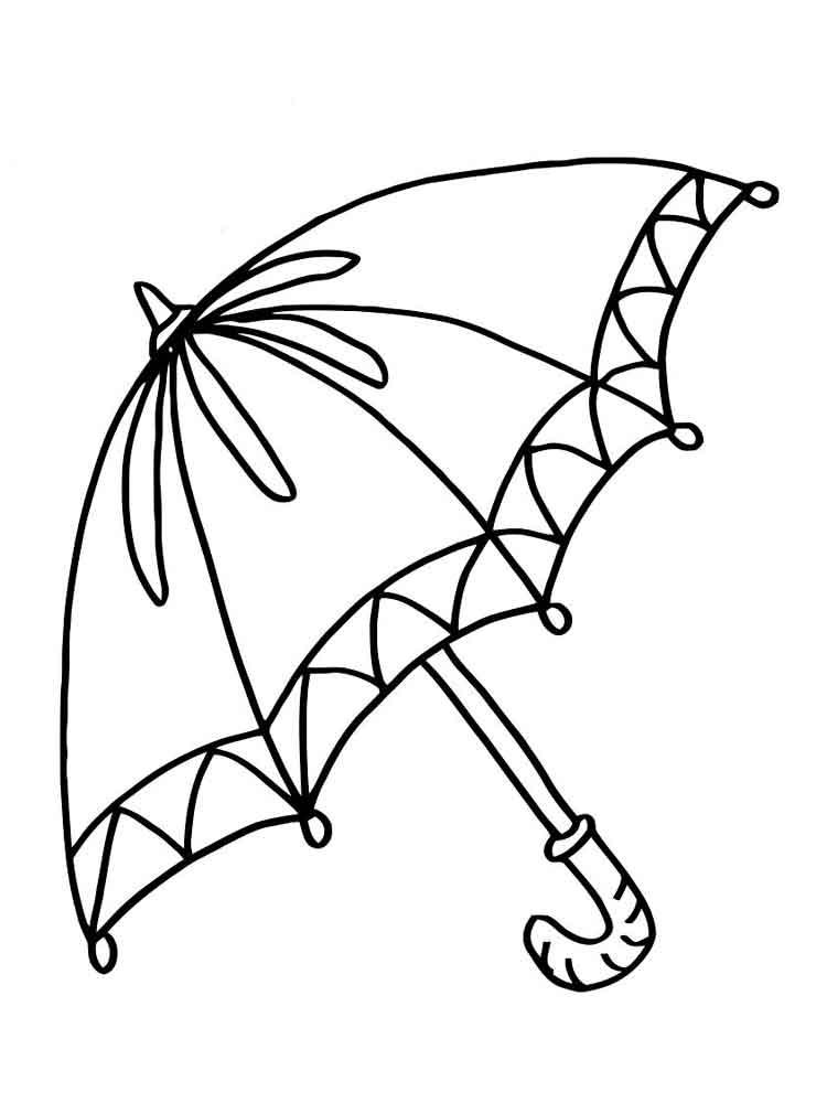 Mẫu tranh tô màu cái ô đẹp nhất