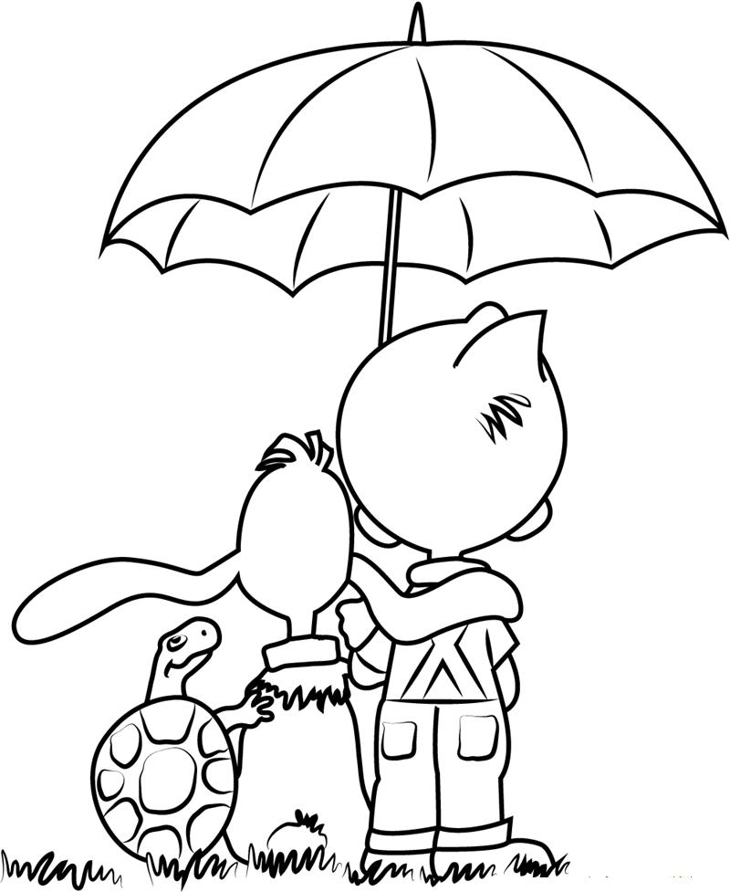 Tranh tô màu cái ô đẹp, ý nghĩa