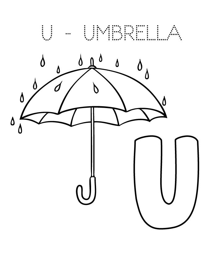 Tranh tô màu cái ô đẹp