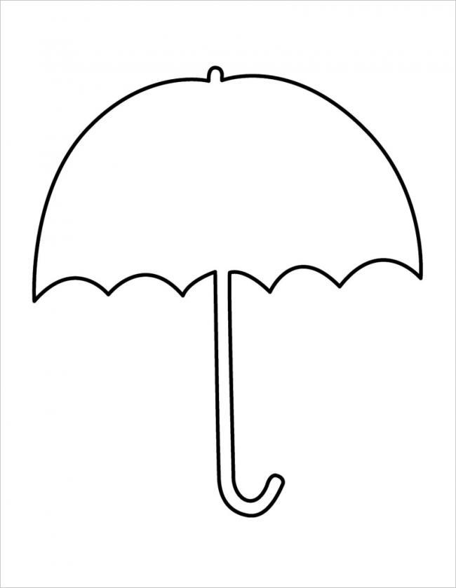 Tranh tô màu cái ô đơn giản
