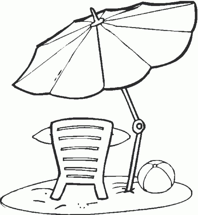 Tranh tô màu cái ô nghỉ mát