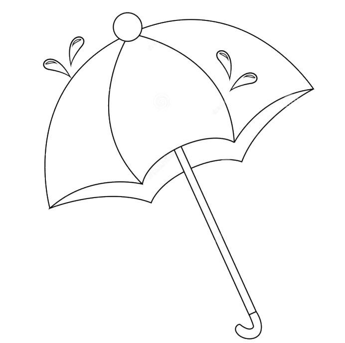 Tranh tô màu chiếc ô đáng yêu
