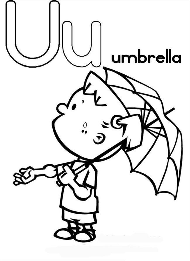Tranh tô màu chiếc ô đẹp, đáng yêu nhất