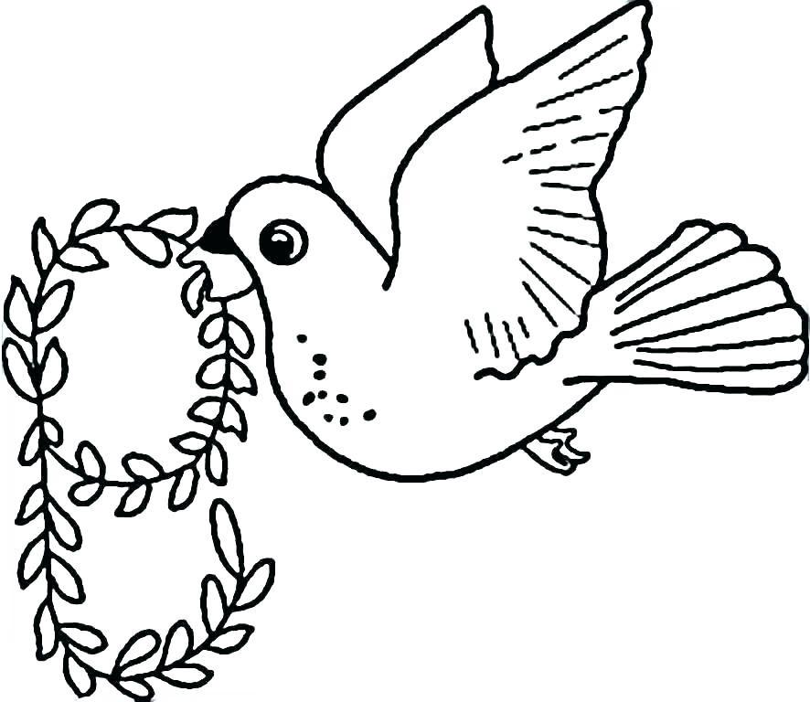 Tranh tô màu con chim đang bay