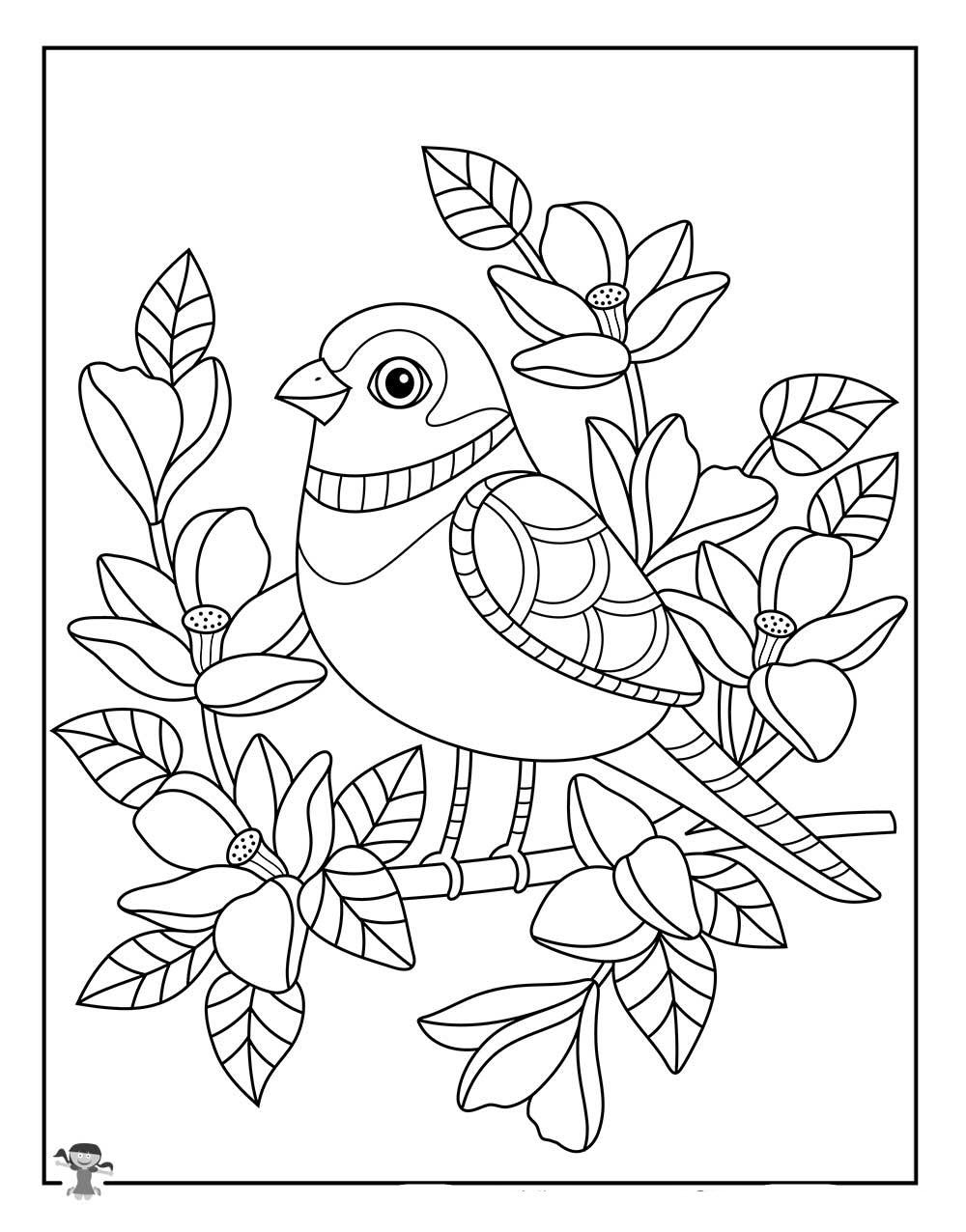 Tranh tô màu con chim đẹp nhất