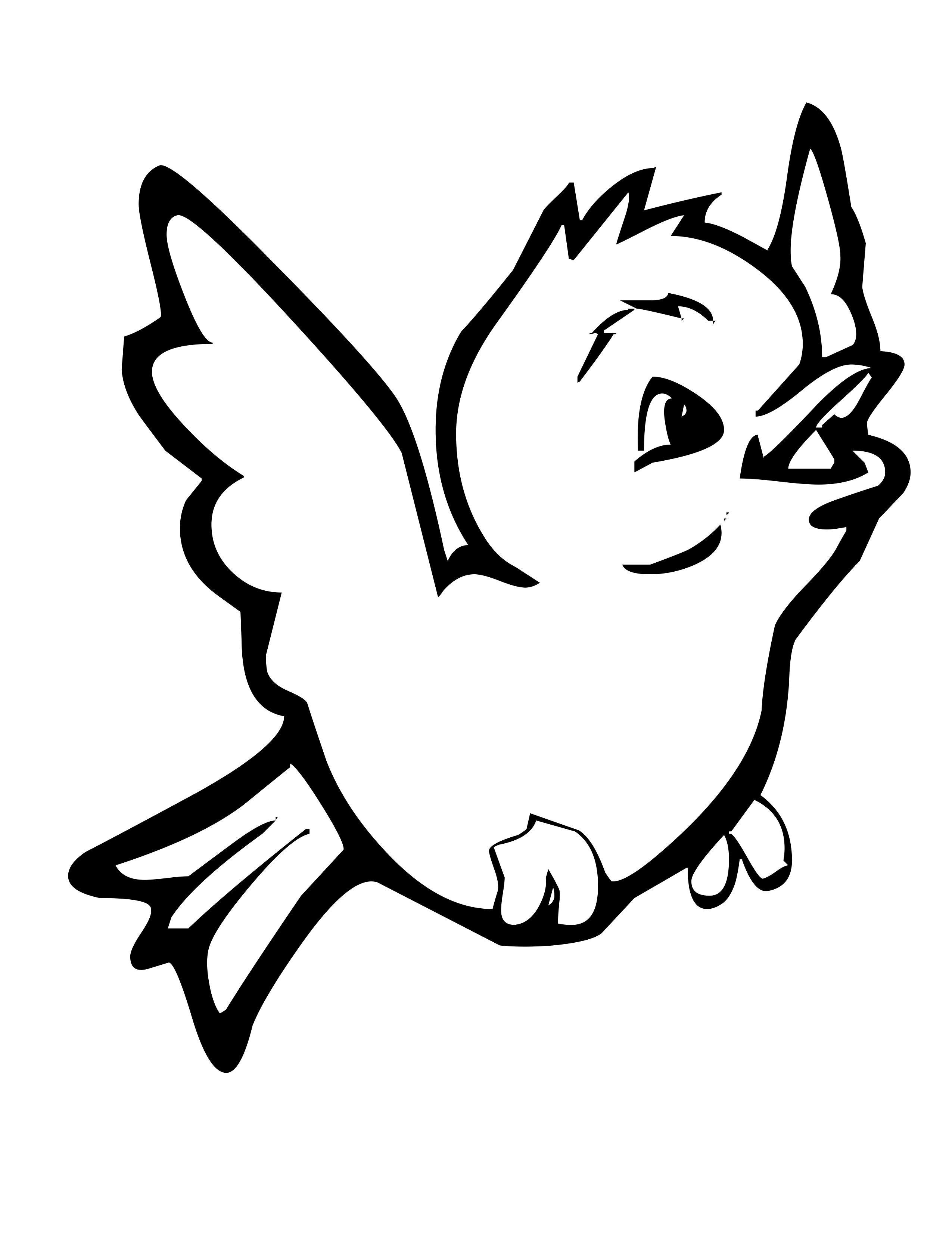 Tranh tô màu con chim đơn giản