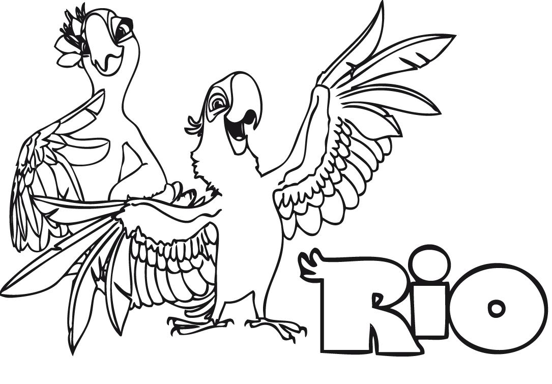 Tranh tô màu con chim hoạt hình