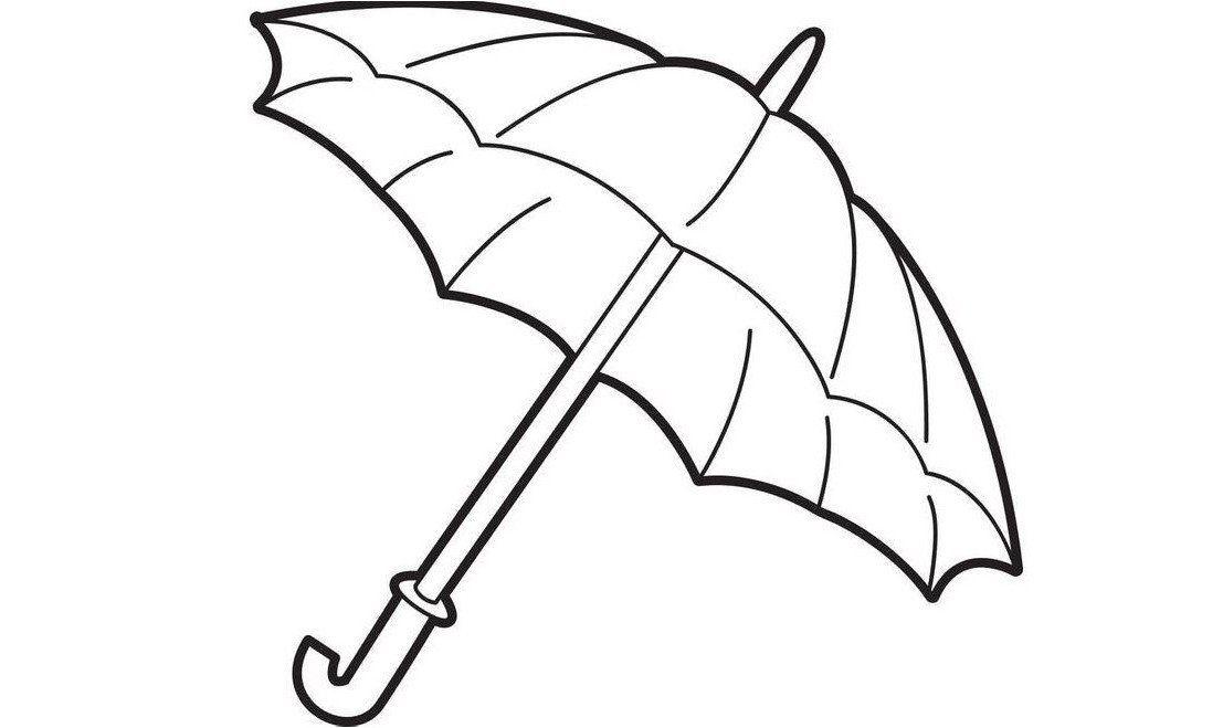 Tranh vẽ cái ô chưa tô màu