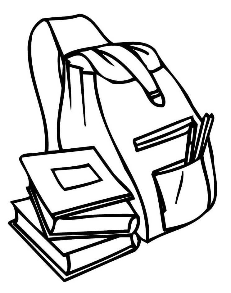 Tranh tô màu balo và những cuốn sách