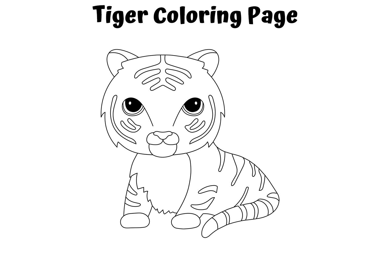 Hình con hổ tô màu cực đẹp
