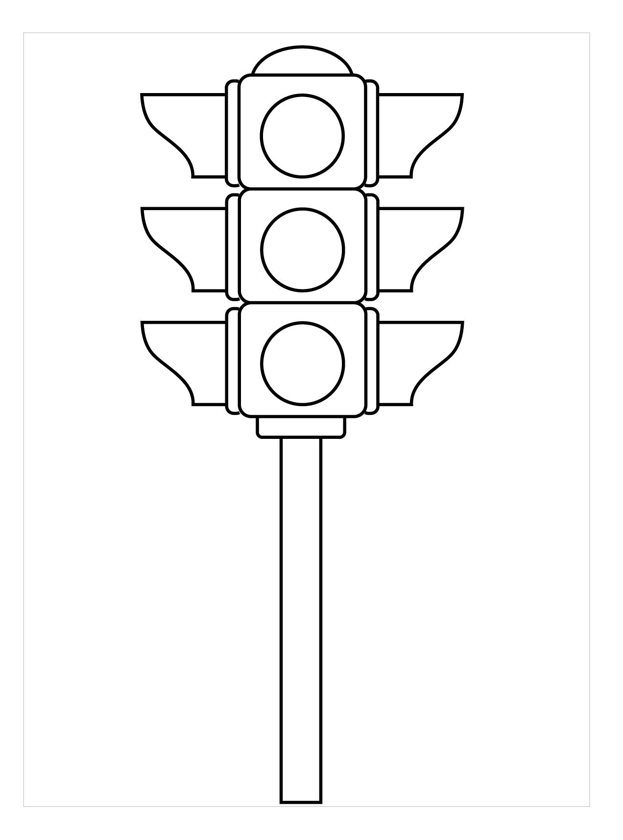 Hình đèn giao thông tô màu cực đẹp