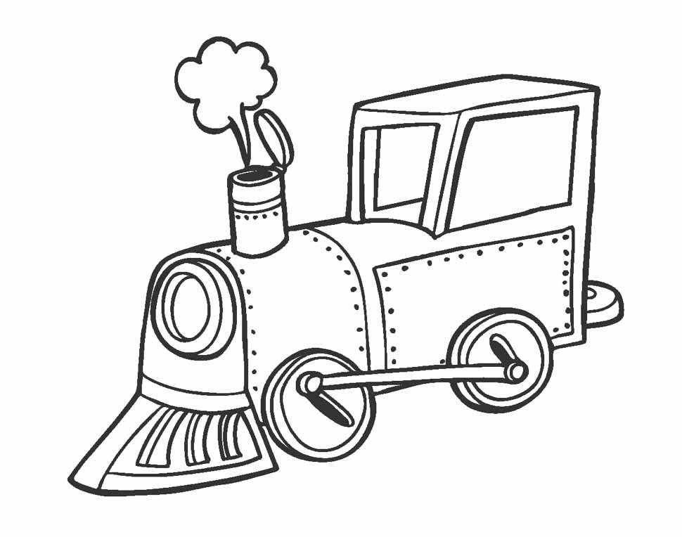 Hình tô màu đầu máy xe lửa
