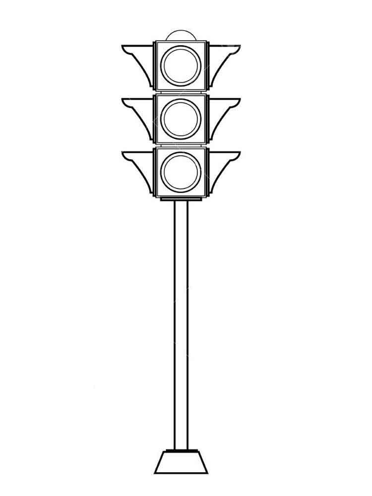 Hình tô màu đèn giao thông
