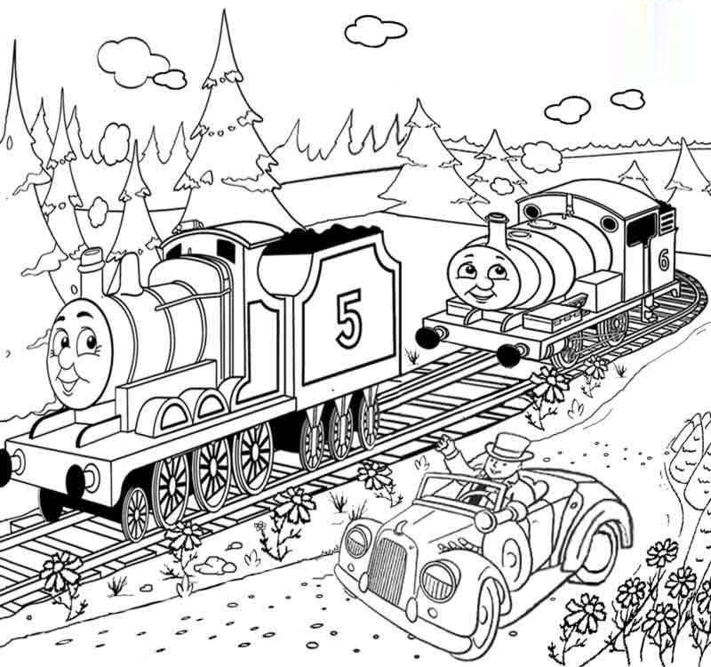 Hình tô màu xe lửa hoạt hình