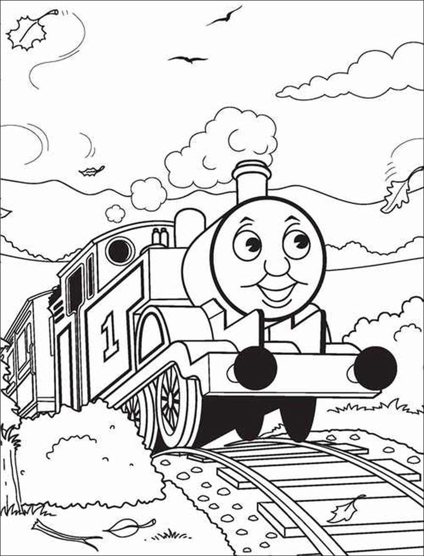 Hình tô màu xe lửa