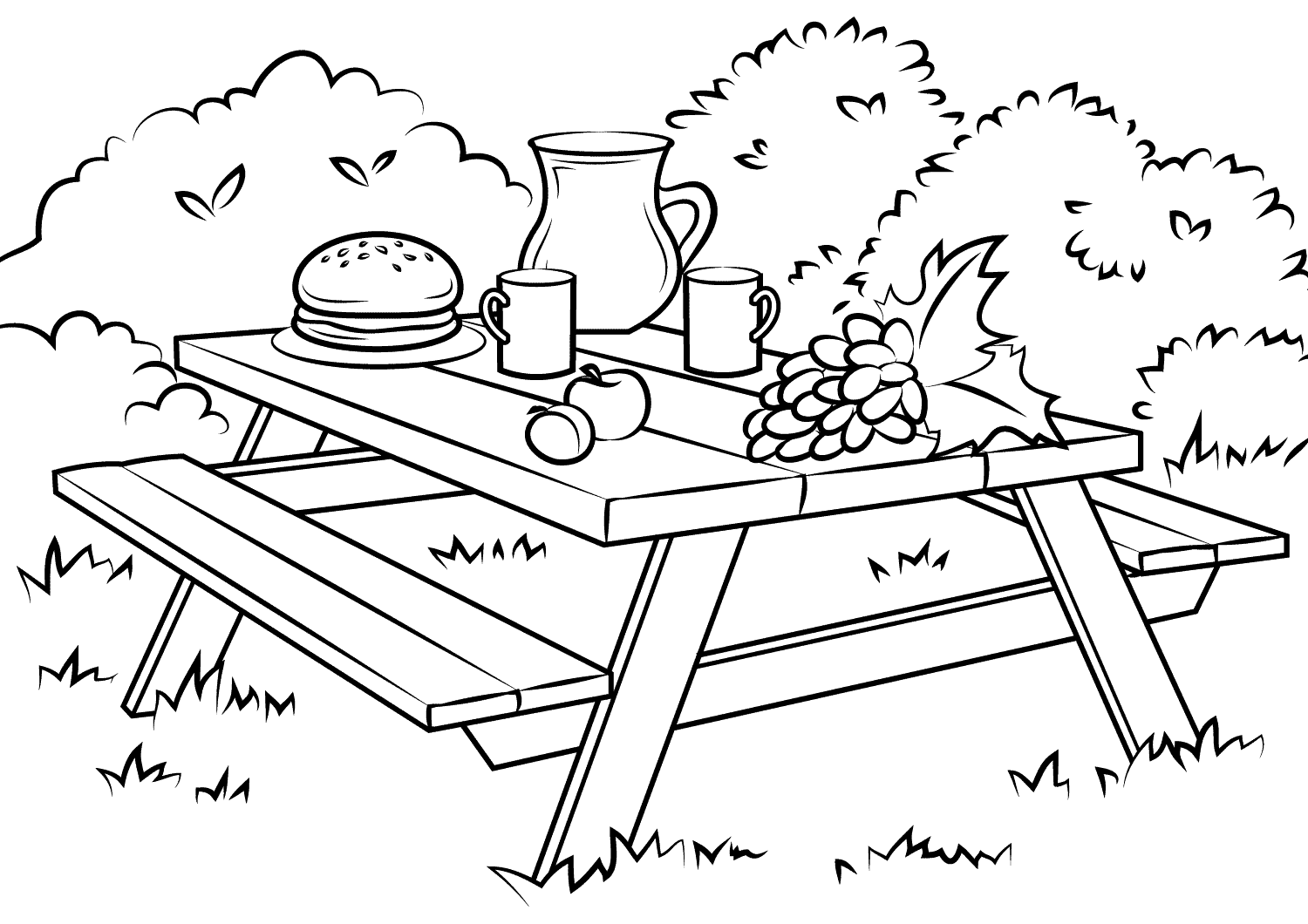 Table Coloring Pages