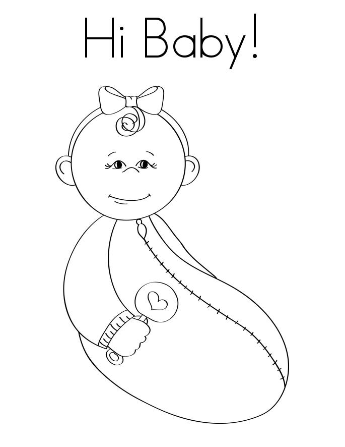 Tranh em bé tô màu đơn giản