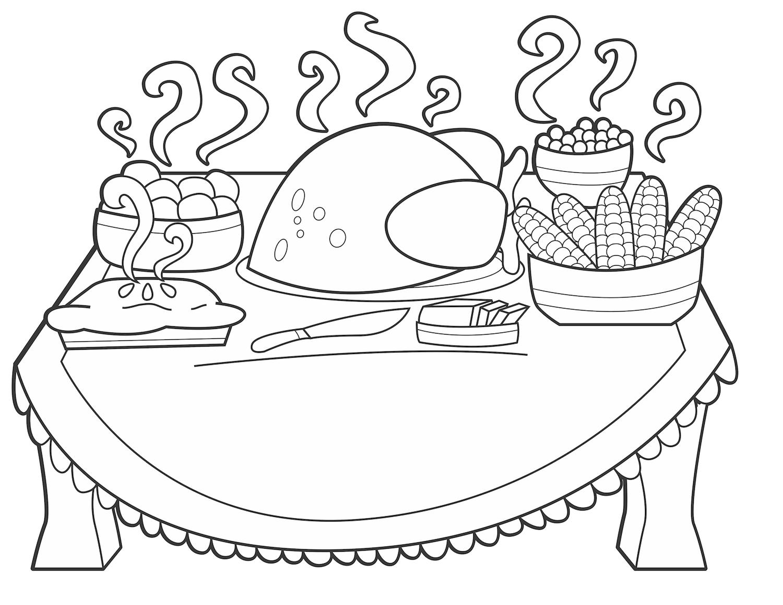 Tranh tô màu bàn ăn cực hấp dẫn
