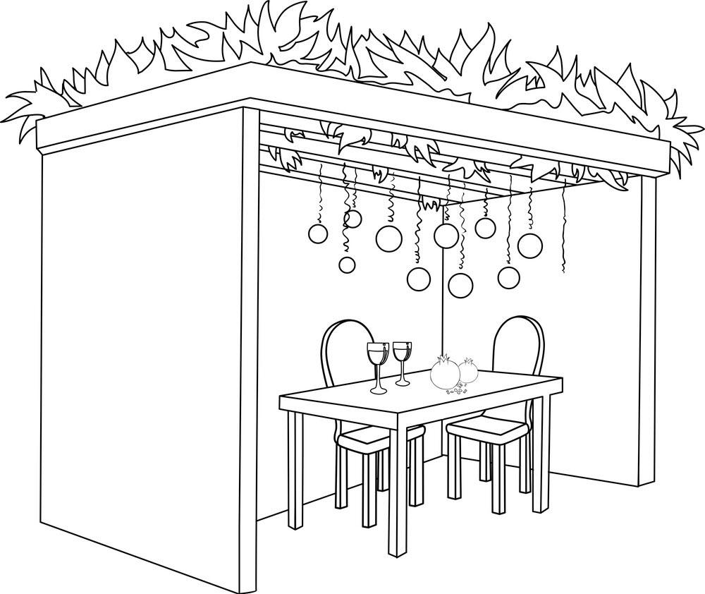 Tranh tô màu bàn ăn kèm không gian lãng mạn
