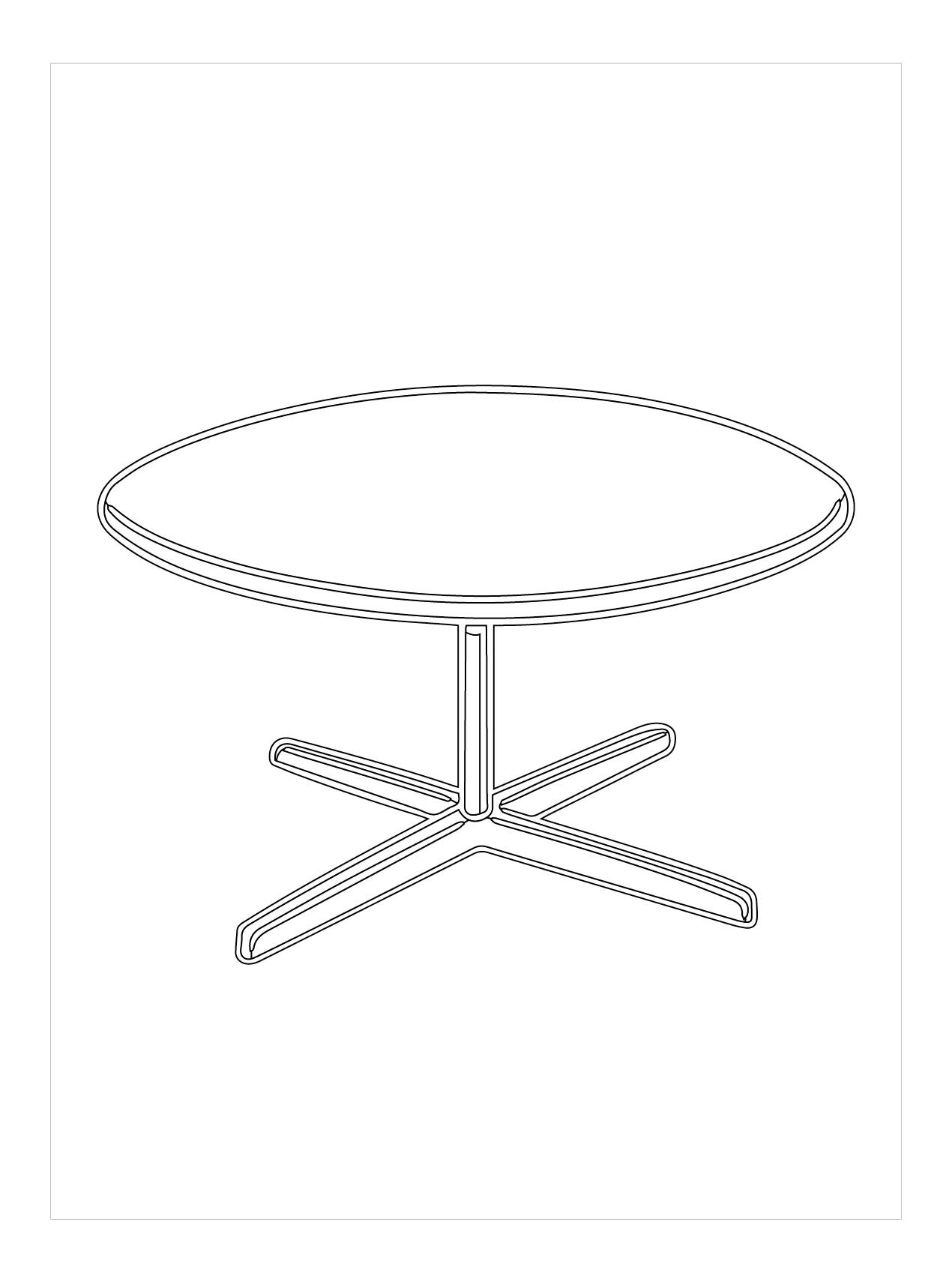 Tranh tô màu cái bàn đẹp, đơn giản