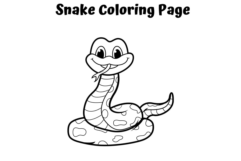 Tranh tô màu cho bé hình con rắn