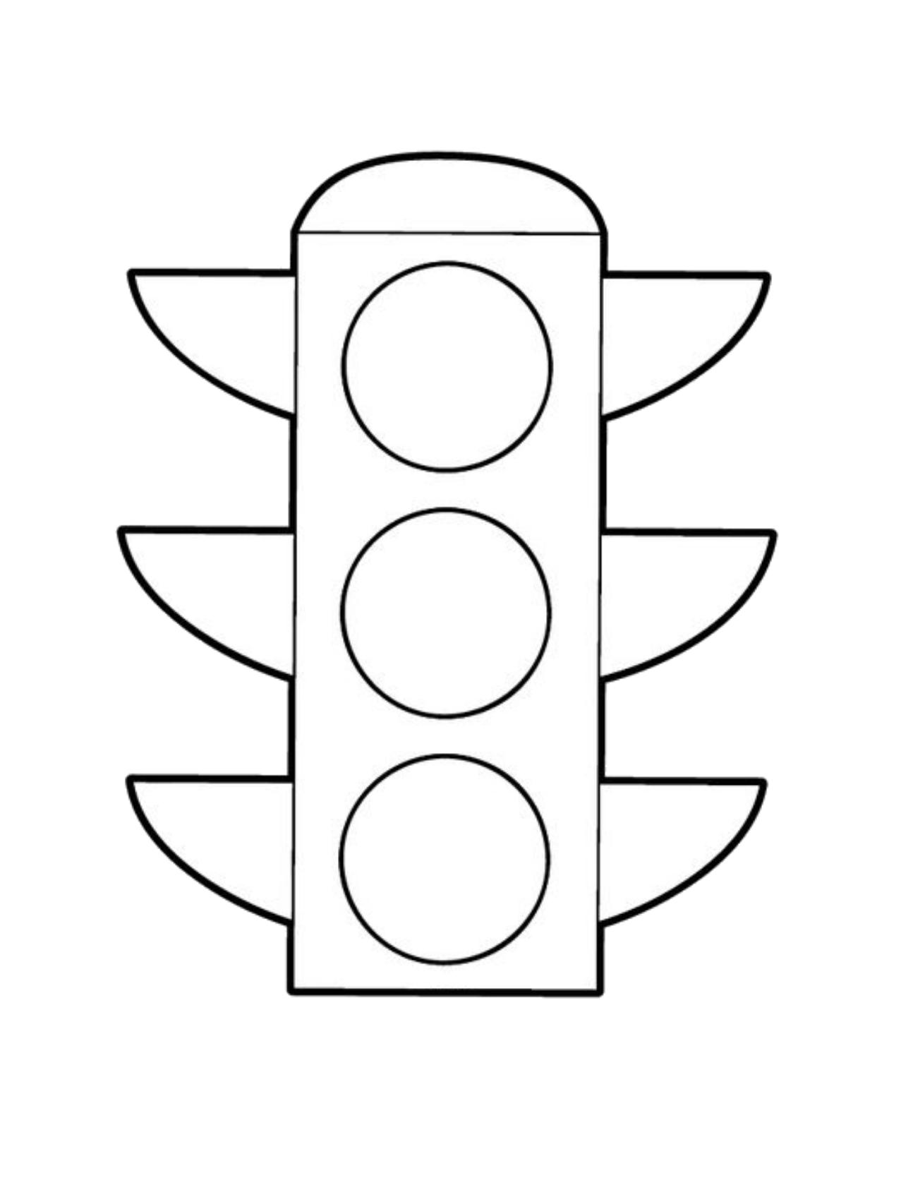 Tranh tô màu cho bé hình cột đèn giao thông