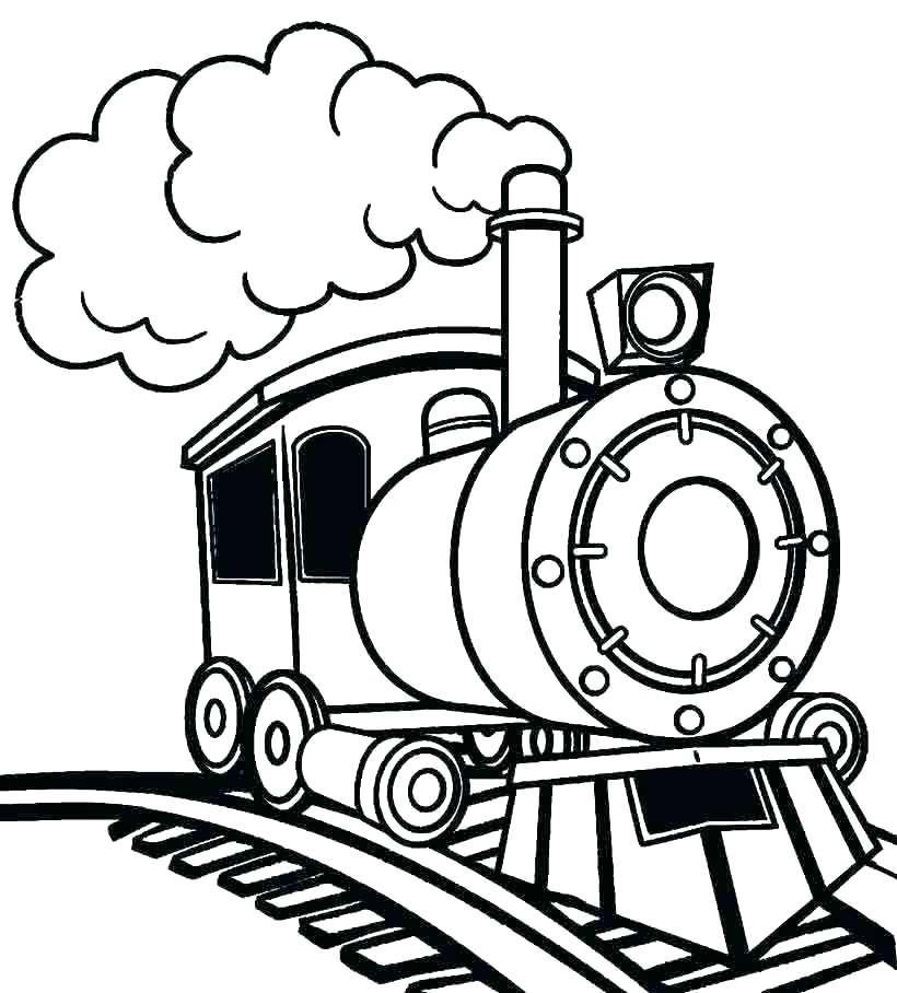 Tranh tô màu cho bé hình xe lửa