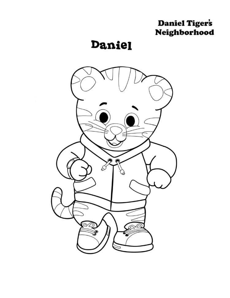 Tranh tô màu chú hổ Daniel
