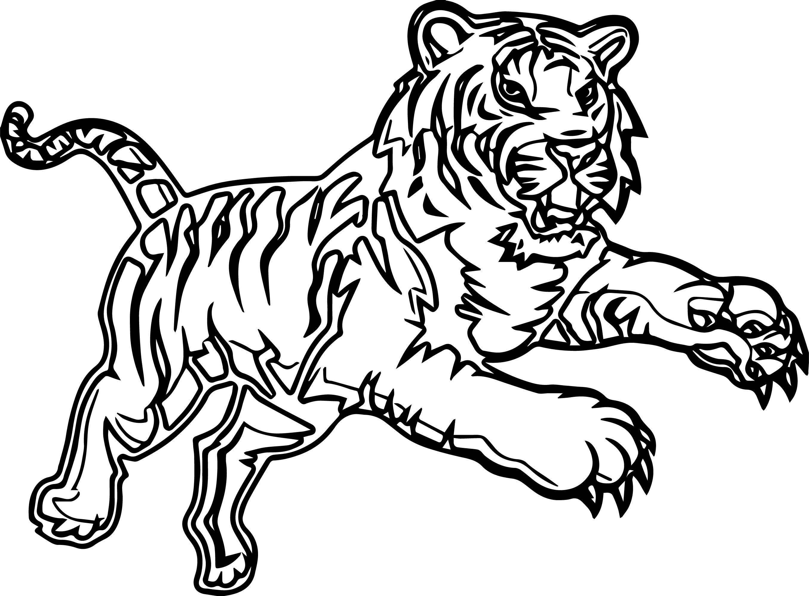 Tranh tô màu con hổ dũng mãnh cực đẹp