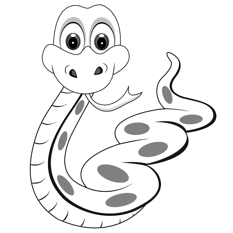 Tranh tô màu con rắn đẹp