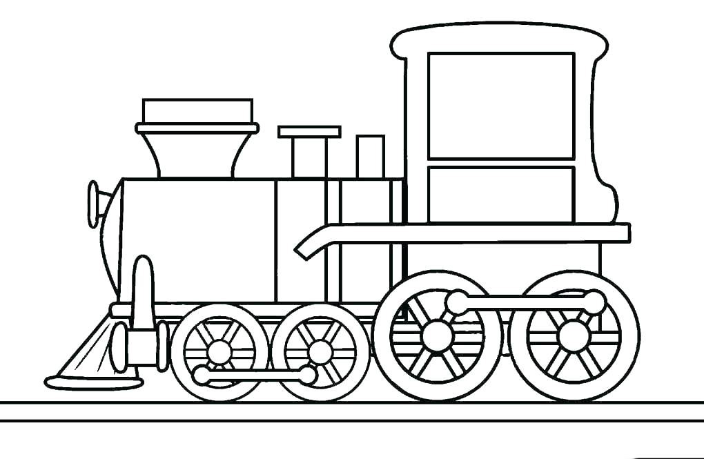 Tranh tô màu đầu tàu hỏa đẹp