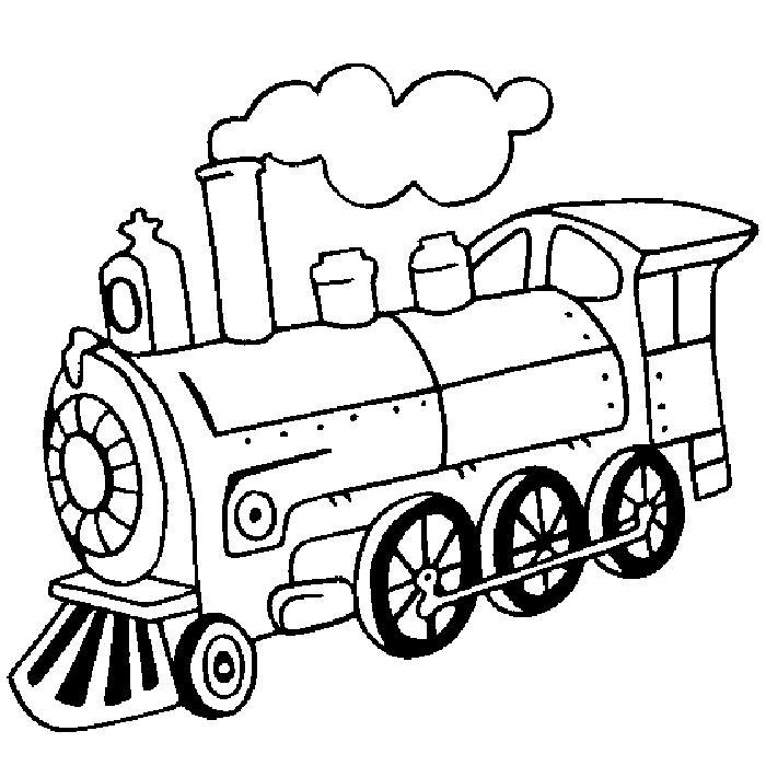 Tranh tô màu đầu xe lửa đơn giản