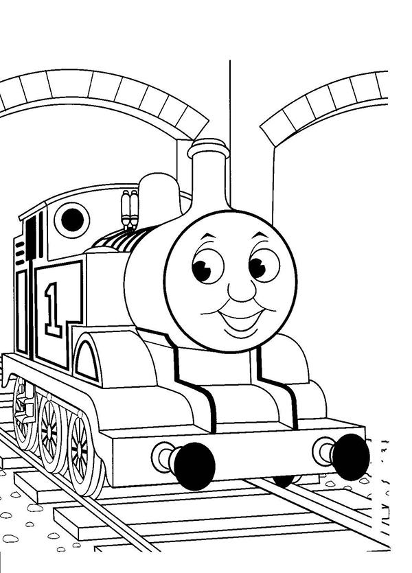 Tranh tô màu đầu xe lửa hoạt hình