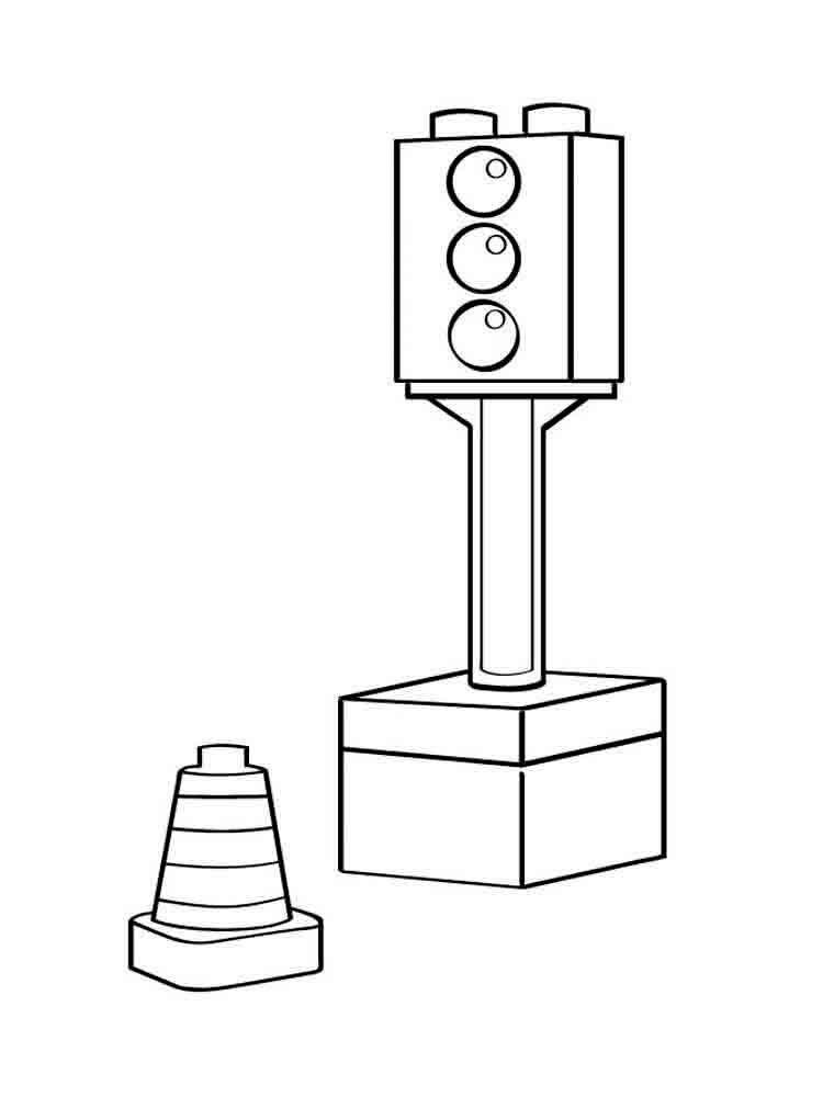 Tranh tô màu đèn giao thông đẹp nhất