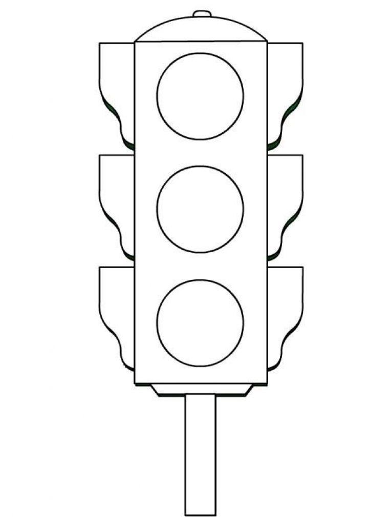 Tranh tô màu đèn giao thông đẹp