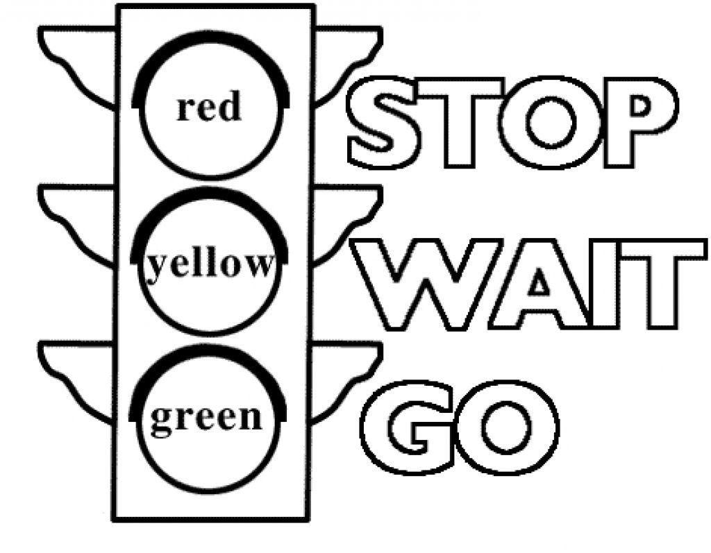 Tranh tô màu đèn giao thông đơn giản