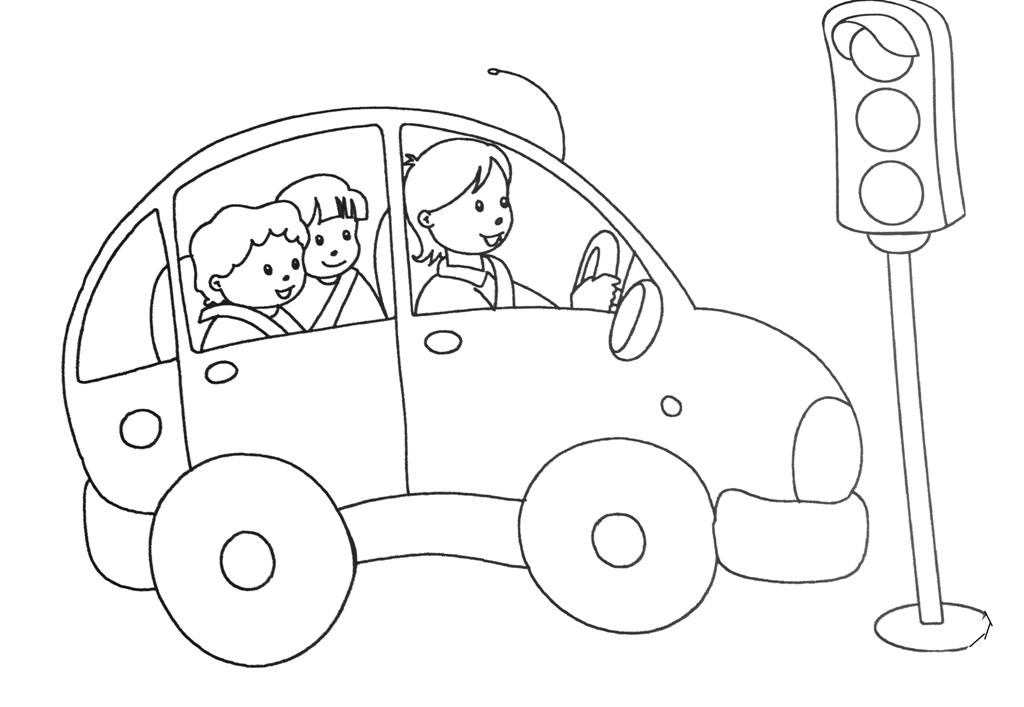 Tranh tô màu hình đèn giao thông