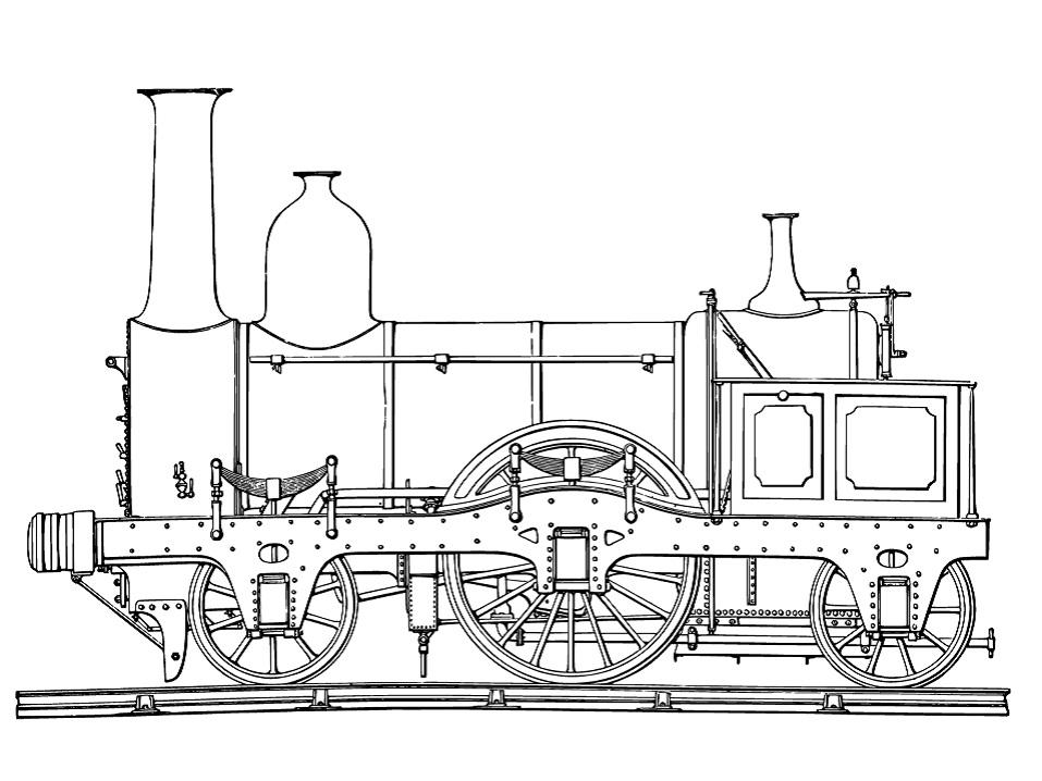 Tranh tô màu một toa xe lửa