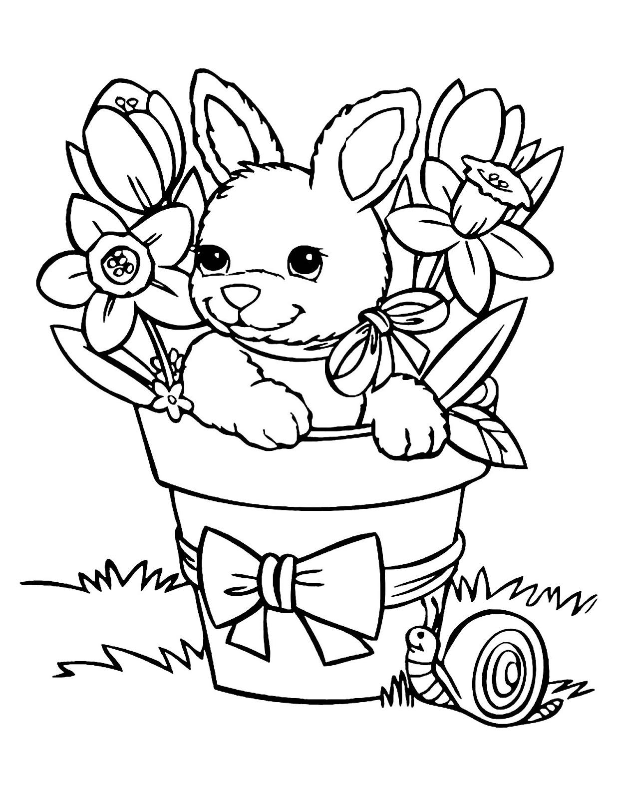 Tranh tô màu mùa xuân vui vẻ