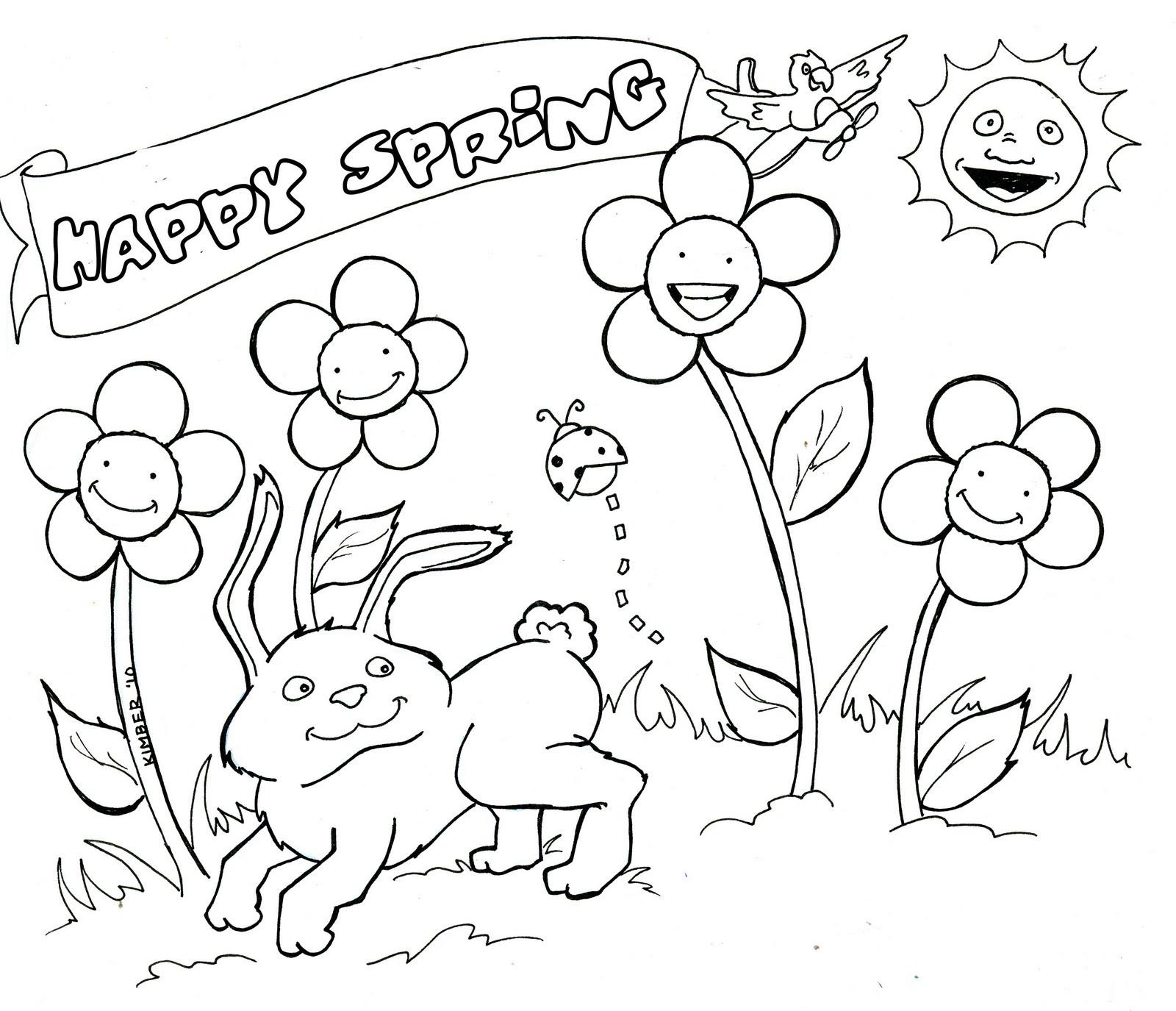 Tranh tô màu muôn loài mùa xuân