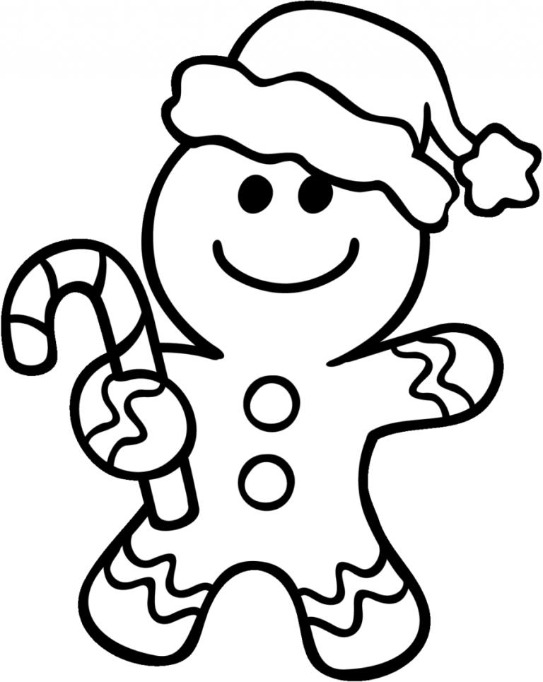 Tranh tô màu người bánh gừng giáng sinh
