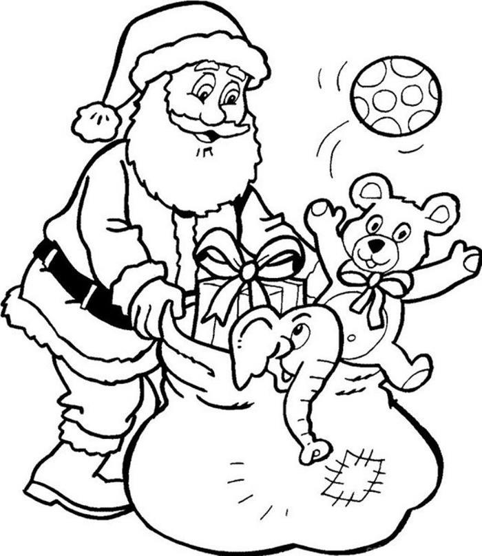 Tranh tô màu những món quà giáng sinh